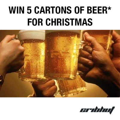 Win 5 Cartons of Beer* For Christmas